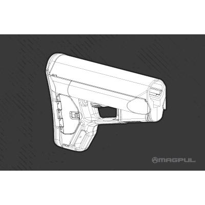 magpul acs carbine stock mil spec model blk shoot straight