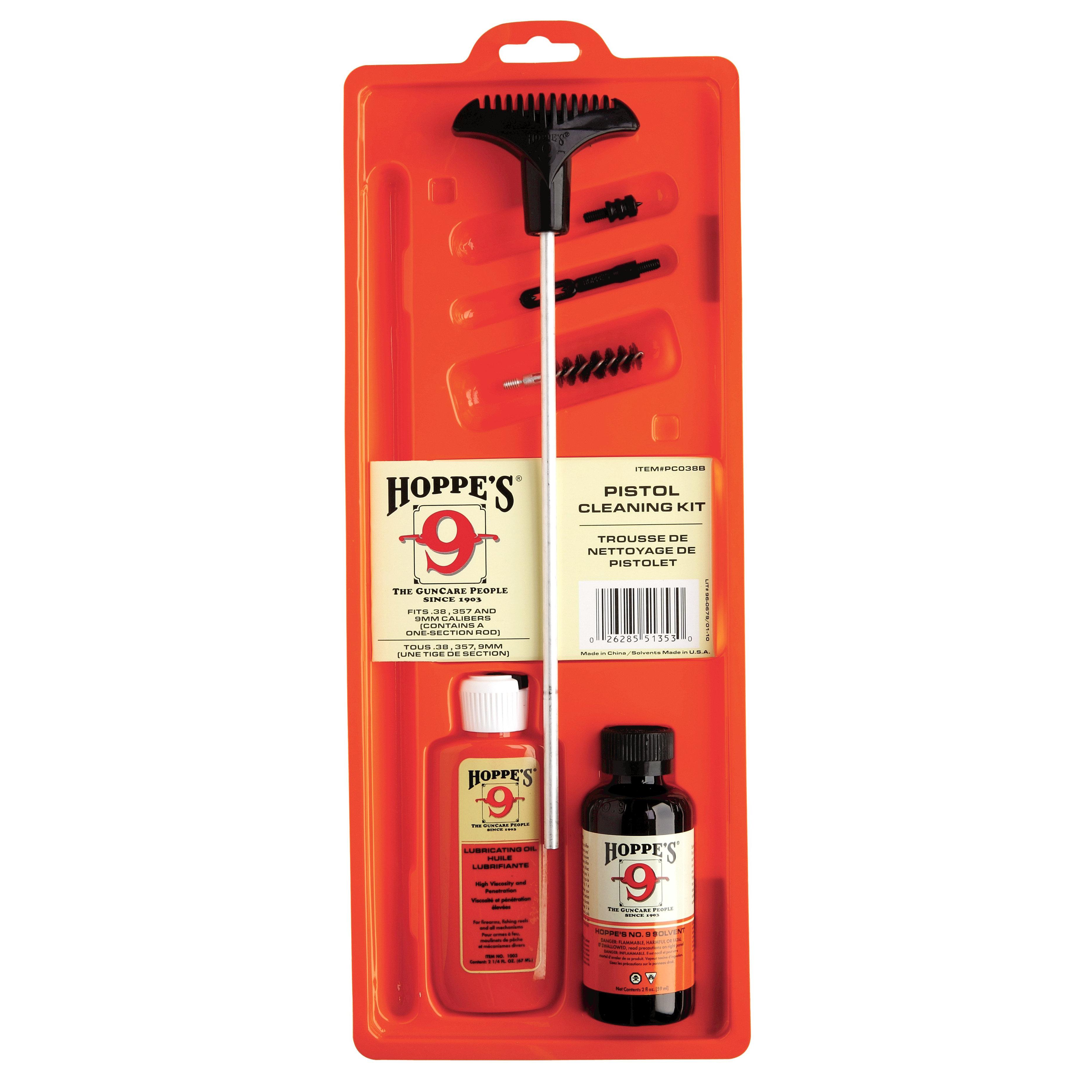 Hoppe's Cleaning Kit For .38, .357 Caliber 9mm Pistol