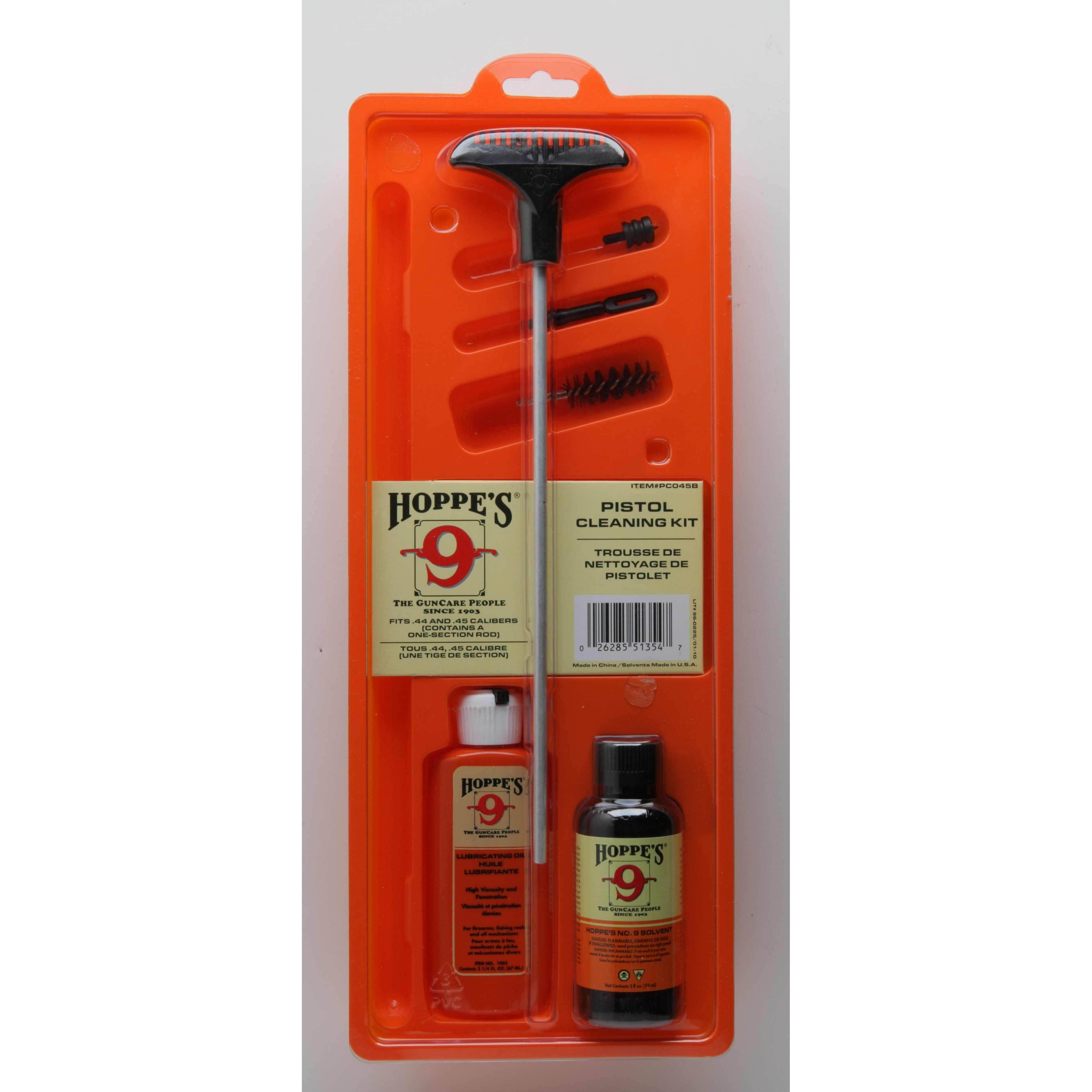 Hoppe's Cleaning Kit For .44, .45 Caliber Pistol