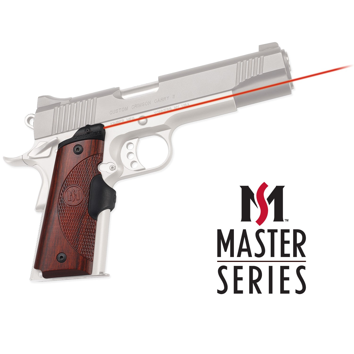 Crimson Trace LG-901 Master Series Lasergrips Rosewood for 1911 Full Size