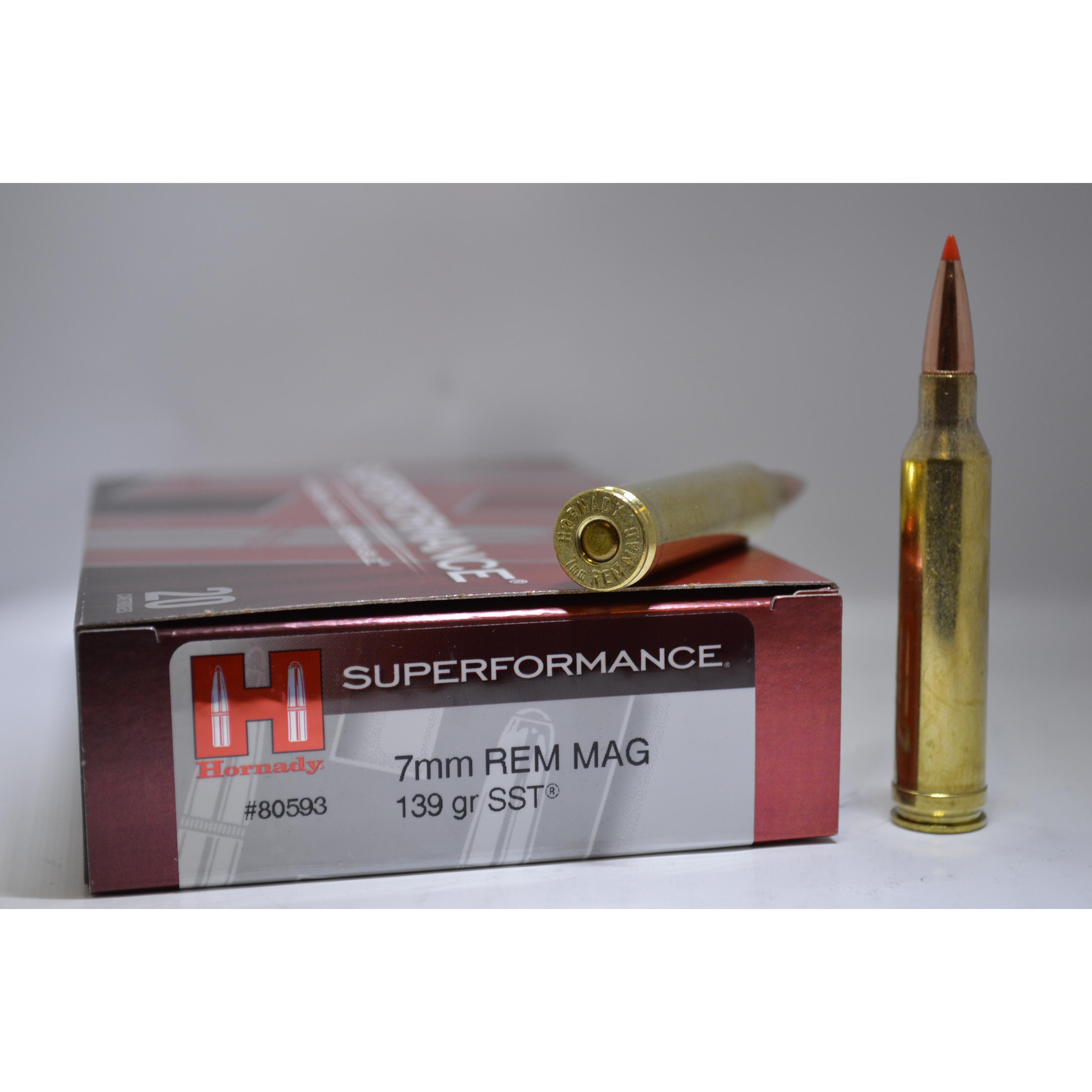 Hornady 7mm Rem Mag 139gr SST Superformance