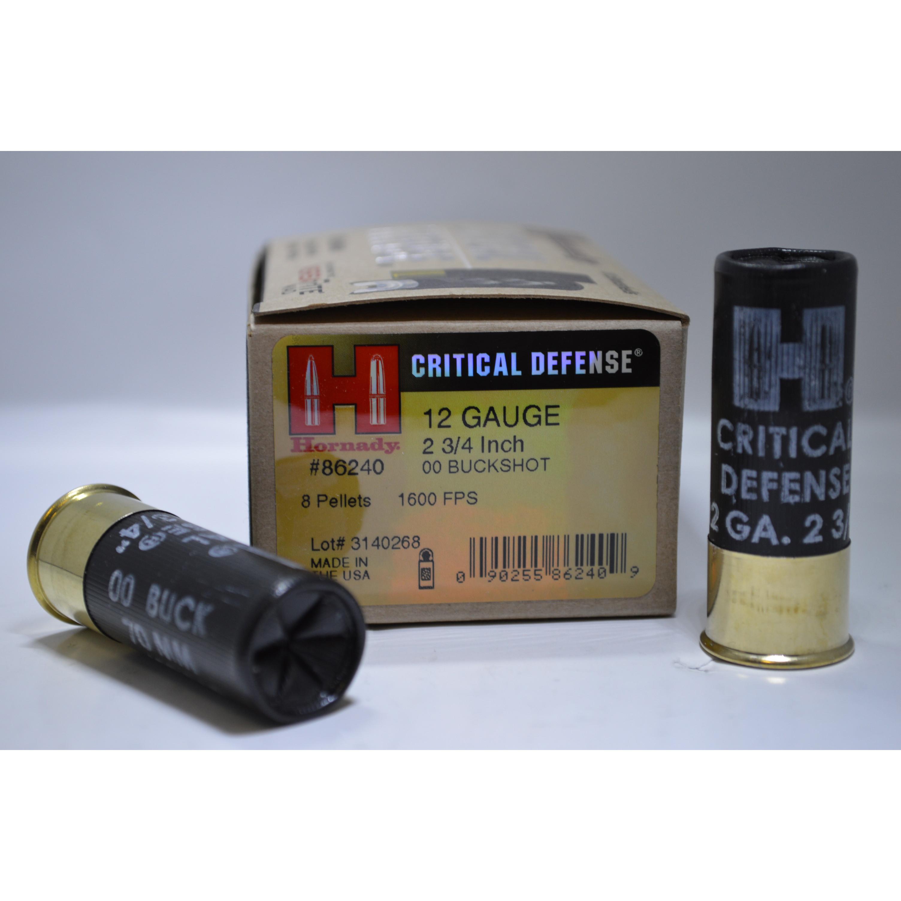 hornady critical defense 12 ga