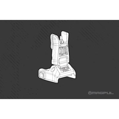 Magpul MBUS Pro - Magpul Back-Up Sight – Front