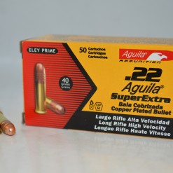 Aguila 22LR High Velocity 40Gr Copper Plated LRN, 50 Rounds