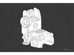 Magpul Mbus Rear Flip Sight, Gen 2, Fde Mag248-fde