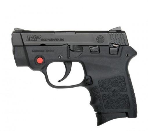 Smith & Wesson M&P Bodyguard 380 Crimson Trace Thumb Safety, 6 Round Semi Auto Handgun, .380 ACP