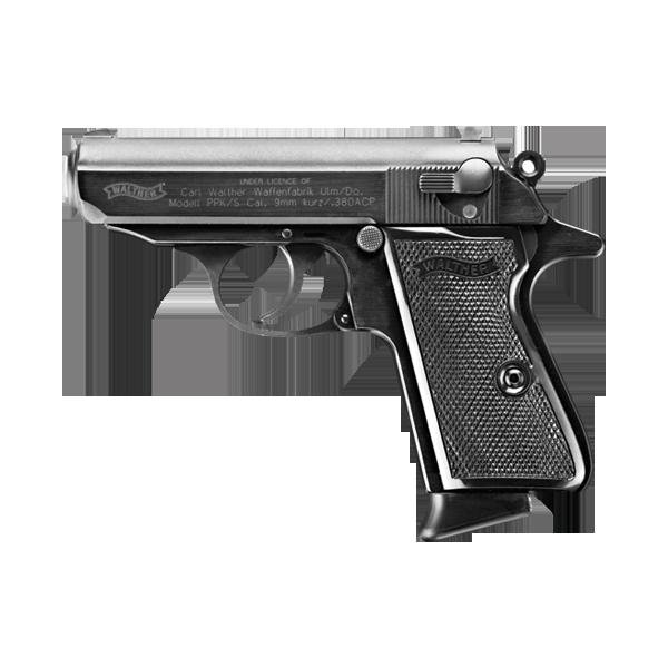 Walther PPK/S Black, 7 Round Semi Auto Handgun, .380 ACP