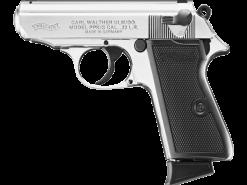 Walther PPK/S Nickel, 10 Round Semi Auto Handgun, .22 LR