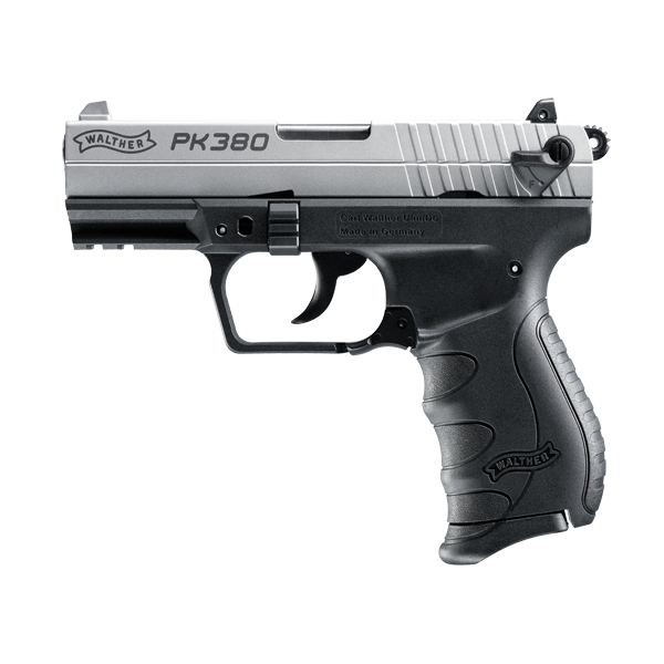 Walther PK380 Nickel, 8 Round Semi Auto Handgun, .380 ACP