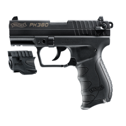 Walther PK380 Black With Laser, 8 Round Semi Auto Handgun, .380 ACP