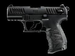 Walther P22 Black, 10 Round Semi Auto Handgun, .22 LR