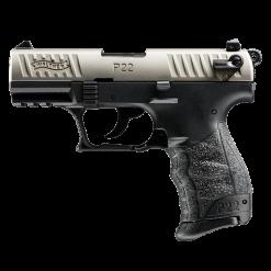 Walther P22 Nickel, 10 Round Semi Auto Handgun, .22 LR