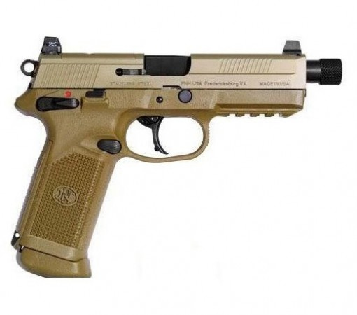 Fnh fnx 45 tactical fde 66968 5 3 quot barrel 45 auto shoot straight