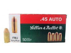 Sellier & Bellot 45ACP 230gr FMJ