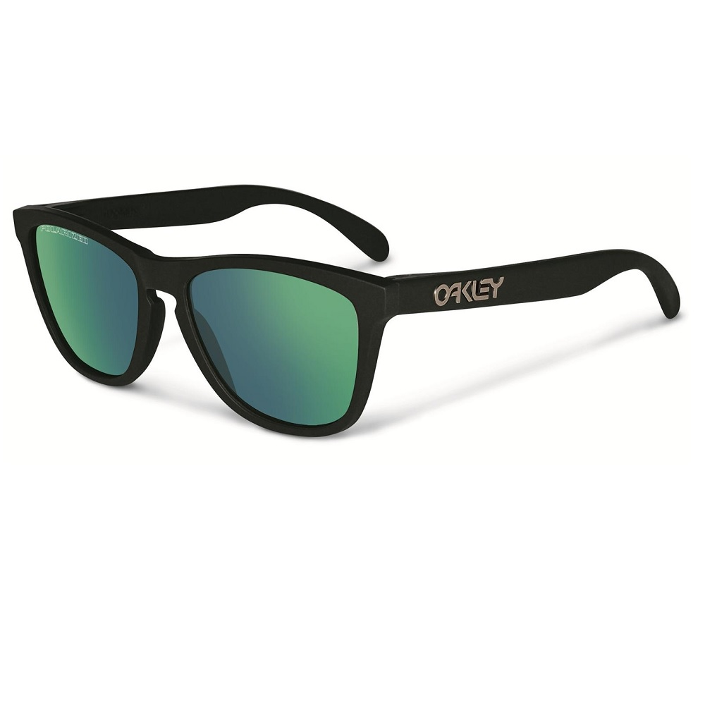 485b61756d5055 Oakley Frogskins Black Emerald Polarized - Shoot Straight