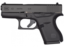 Glock 43, 6 Rounds Semi Auto Handgun, 9mm