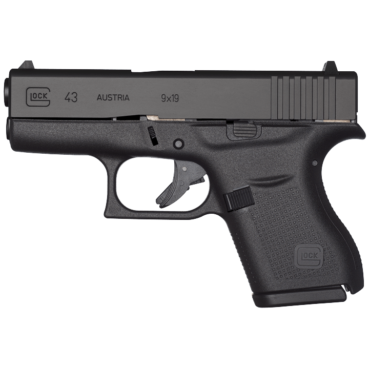 Glock 43, 6 Rounds Semi Auto Handgun, 9mm - Shoot Straight on aw gun, mm gun, gm gun, dd gun, tt gun, mr gun, sg gun, sk gun,