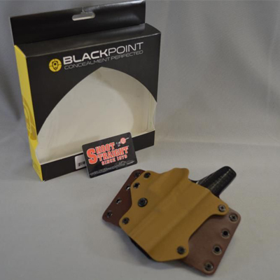 Blackpoint Right-Hand Leather Wing Holster Glock 19/23