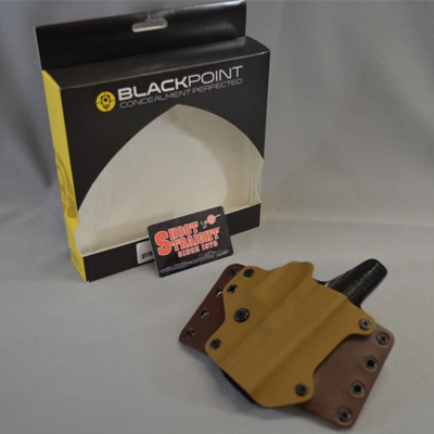 Blackpoint Right-Hand Leather Wing Holster S&W Shield 9/40