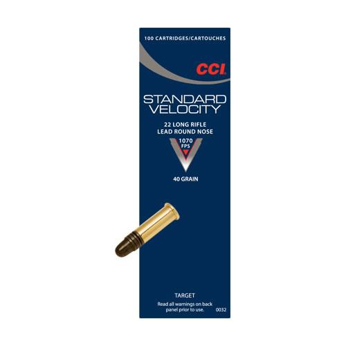 CCI 0032 22LR Standard Velocity 40Gr LRN