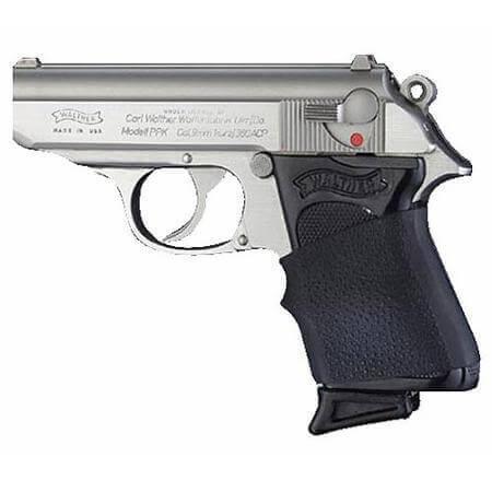 Hogue Handall Jr. Gun Grip Sleeve  Black Rubber