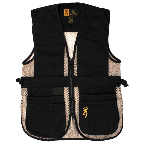 Browning Junior Trapper Creek Vest Black Tan, Large