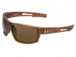 Under Armour Captain Satin Wood Grain Sunglasses