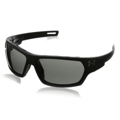 Under Armour Battlewrap Satin Black Gray Lens