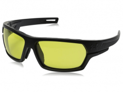 Under Armour Battlewrap Satin Black Yellow Lens