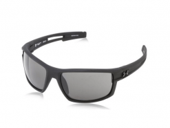 Under Armour Captain Satin Black Sunglasses