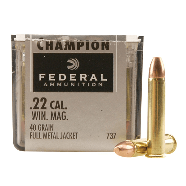 Federal Champion 22WMR 40Gr FMJ, 50 Rounds