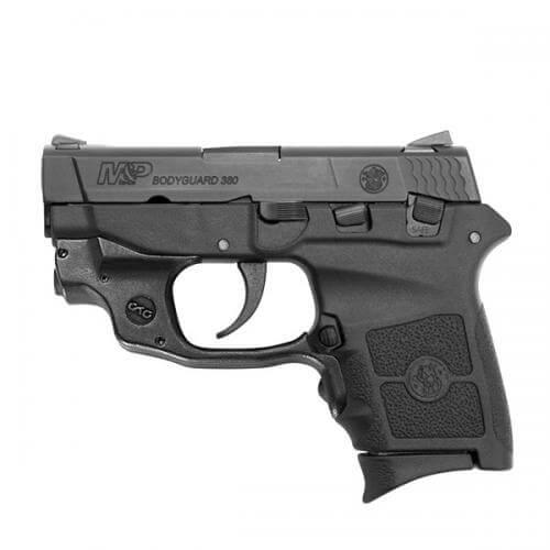 Smith & Wesson M&P Bodyguard 380 Crimson Trace Green Laserguard, 6 Round Semi Auto Handgun, .380 ACP