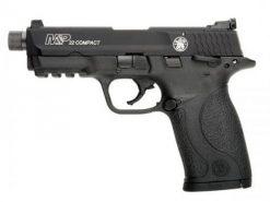 Smith & Wesson M&P22 Compact Threaded Barrel Thumb Safety, 10 Round Semi Auto Rimfire Handgun, .22 LR