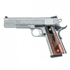Smith & Wesson Engraved 1911, 8 Round Semi Auto Handgun, .45 ACP