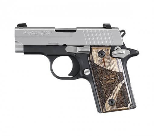 Sig Sauer P238 Blackwood Two Tone, 6 Round Semi Auto Handgun, .380 ACP