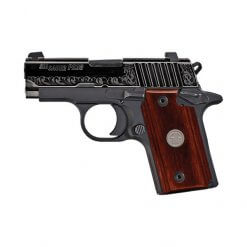 Sig Sauer P238 Engraved Rosewood Micro-Compact, 6 Round Semi Auto Handgun, .380 ACP