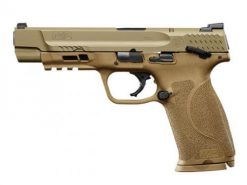 Smith & Wesson M&P 9 M2.0 FDE Thumb Safety, 17 Round Semi Auto Handgun, 9mm