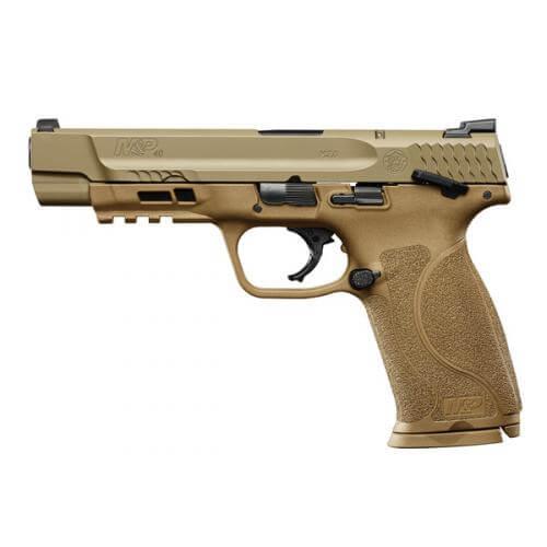 Smith & Wesson M&P 40 M2.0 FDE Thumb Safety, 15 Round Semi Auto Handgun, .40 S&W