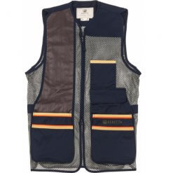 Beretta Mens Small US Two Tone Shooting Vest Blue
