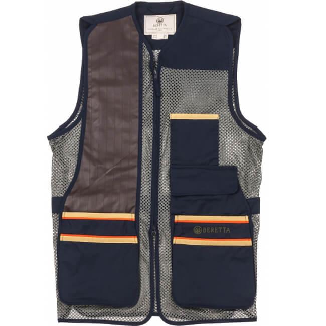 Beretta Mens XXX-Large US Two Tone Shooting Vest Blue