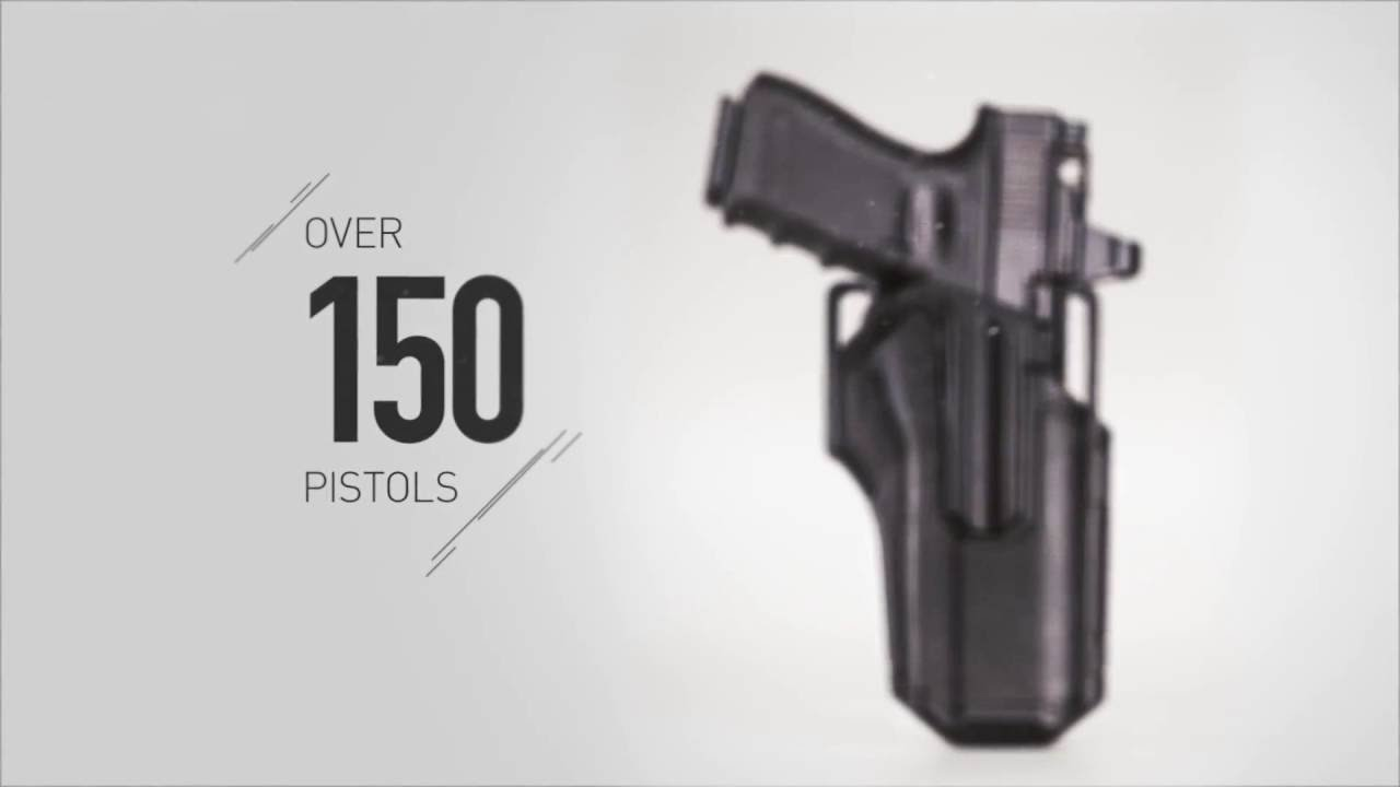 More than 150 pistols, one holster -- the BLACKHAWK!® OMNIVORE™