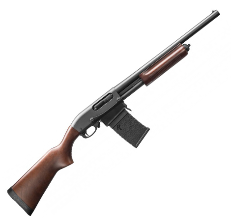 "Remington 870 DM Hardwood 81351 12-Gauge Pump Shotgun 18.5"" Barrel"