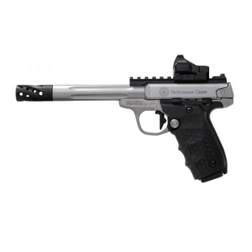 "Smith & Wesson SW22 Victory 12079 Performance Center, 6"" Stainless Fluted Barrel, w/ Red Dot Sight"