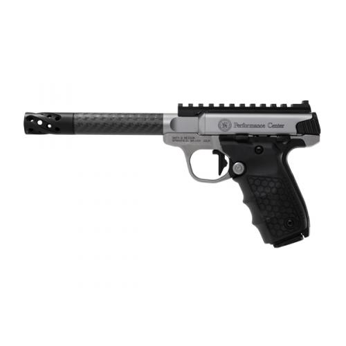 """Smith & Wesson SW22 Victory 12080 Performance Center, 6"""" Carbon Barrel w/ Picatinny Rail"""