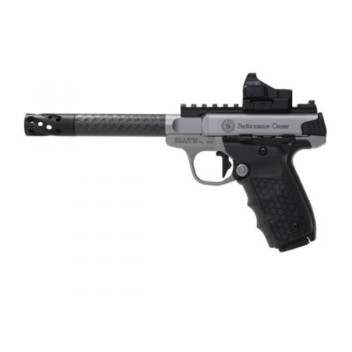 """Smith & Wesson SW22 Victory 12081 Performance Center, 6"""" Carbon Barrel, w/ Red Dot Sight"""