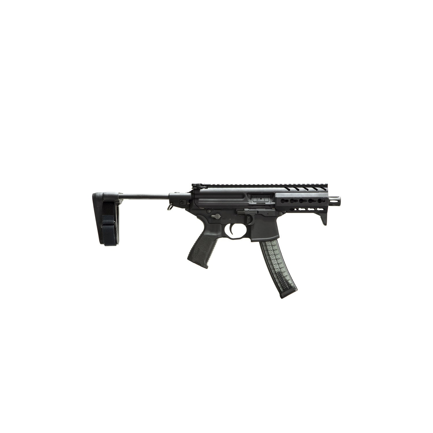 Sig Sauer MPX K w/ PSB, 4.5in Barrel, 9MM, Semi Auto Handgun