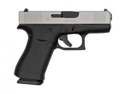 Glock G43X Sub-Compact Silver 9mm 3.41-inch 10Rds Fixed Sights