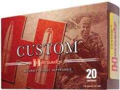 Hornady Custom Rifle Ammunition 8155, 7 mm X 57 mm Mauser, Interlock Spire Point, 139 GR