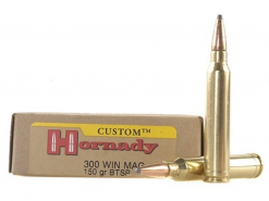 Hornady Custom Ammunition 300 Winchester Magnum 150 Grain Spire Point Boat Tail Box of 20 Product #: 871134 Manufacturer #: 8201 UPC #: 090255382013 Write the First Review