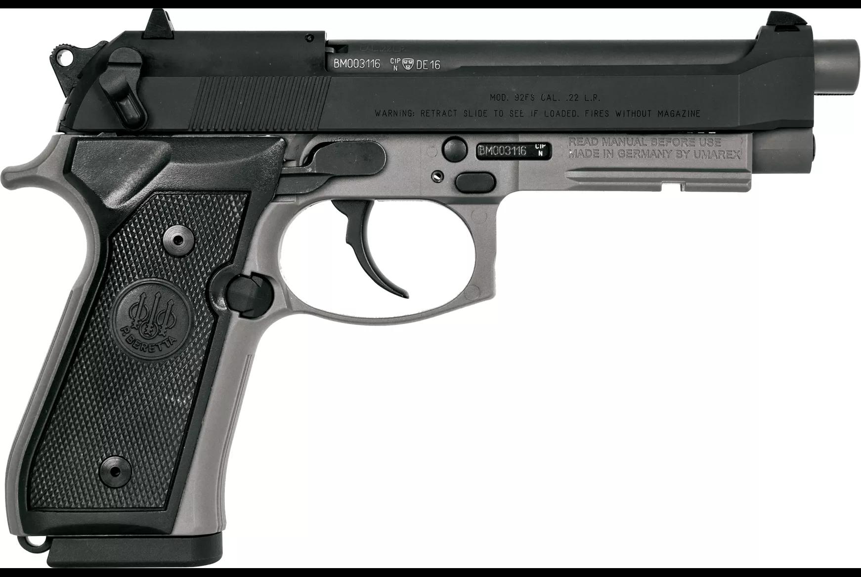 Beretta 92FSR .22LR Sniper Gray J90A192FSRF59 15 Rd Mag